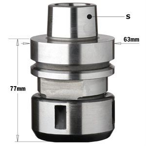 HSK chuck with precision collet \