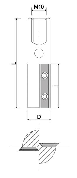 nutfr ser 2 schneiden innengewinde m10. Black Bedroom Furniture Sets. Home Design Ideas