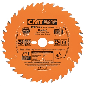 ITK Plus rip and crosscut circular saw blades
