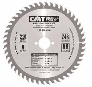 Fine cut-off circular saw blades, for portable machines