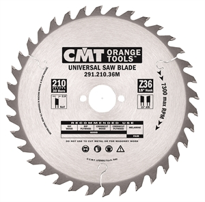 Crosscut circular saw blades, for portable machines