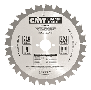 Rip circular saw blades, for portable machines