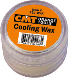 Cooling wax for diamond dry hole saws