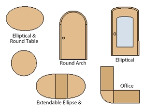 Ellipse & circle cutting jig