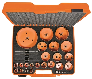 Case suitable for hole saws