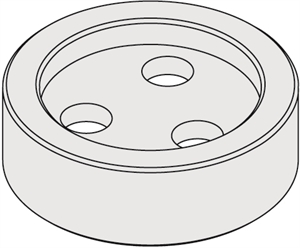 Optional flanges for chucks with arbor - Female