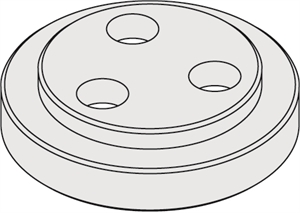 Flanges for chucks with arbor - Male
