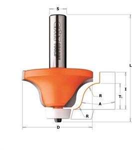 Solid surface rounding over bowl router bits (ogee profile)