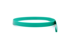 Green plastic protection tape for narrow bands