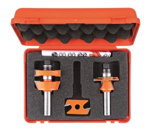 Adjustable shaker router bit sets