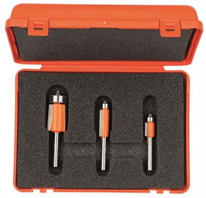 3 Piece flush trim bit set