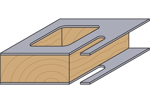 Double panel pilot router bit with guide