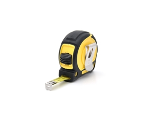 Standard steel tape measure with blocage