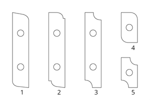 Carbide inserts for multi-shape cover cutter head