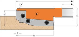 Professional raised panel cutter heads