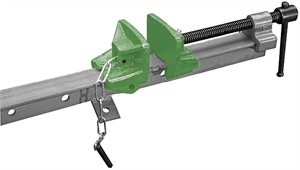 Door clamp line T beam