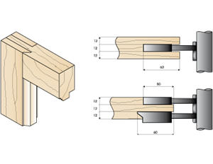 Case for moulding of wooden windows of 36 and Case for tenoning wooden windows of 36