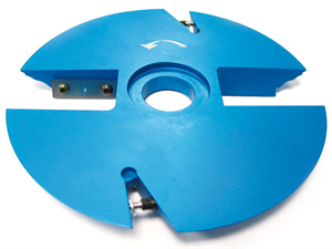 Multi profile cutter head series: POLY-PROFIL cutter head with projection of 20mm - Panel raiser and counter profile